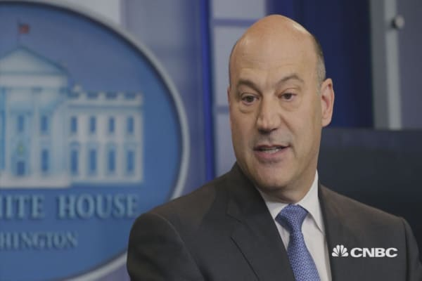 Gary Cohn speaks out