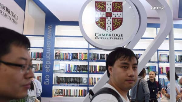 Cambridge University stood up to China in a way companies like Apple haven't