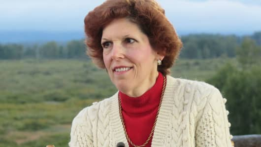 Loretta Mester at Jackson Hole, August 25, 2017.