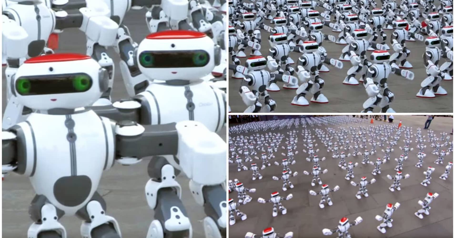 1,069 robots dancing simultaneously broke the Guinness World Records