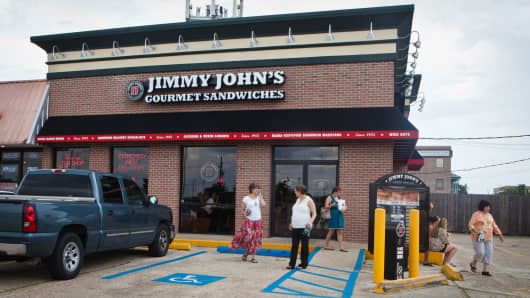 A Jimmy John's Gourmet Sandwiches location in Metairie, Louisiana.