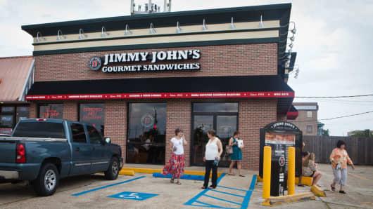 A Jimmy John's Gourmet Sandwiches location in Metairie, Louisiana.