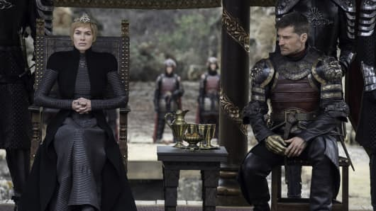 "Lena Headey as Cersei Lannister and Nikolaj Coster-Waldau as Jamie Lannister, both among the highest paid ""Game of Thrones"" actors"