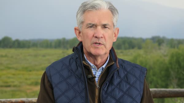 Jerome Powell interviewed at Jackson Hole, Wyoming on Friday, August 25, 2017.