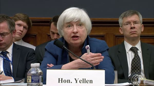 Janet Yellen: System is safer now, though 'all-too-familiar' risks remain