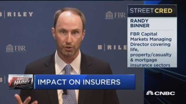 Expect $2-$4 billion of private insured losses from Harvey: FBR Capital's Randy Binner