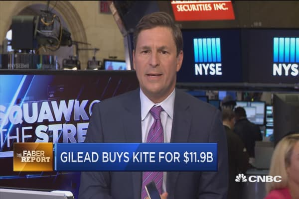 Gilead buys Kite for $11.9 billion
