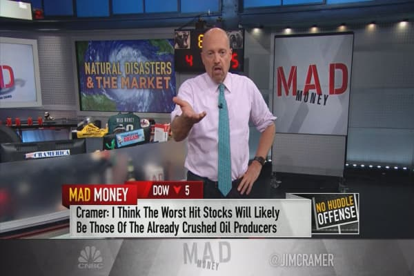 Cramer tracks Hurricane Harvey's impact on stocks
