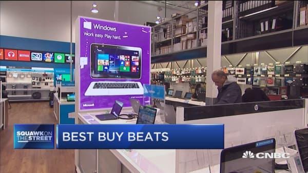 Best Buy beats Street, raises outlook