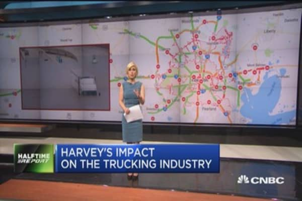 Harvey's impact on the trucking industry