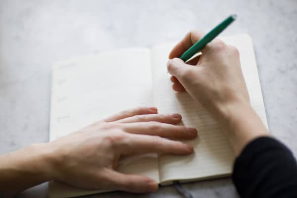 Keeping a journal can help you keep track of your ideas, goals and what motivates you, Kauss says.