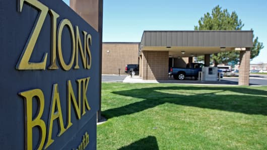 A Zions Bank branch