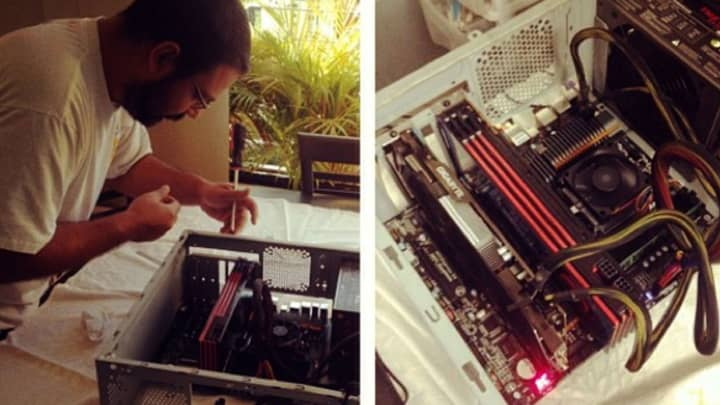 A friend of Lopez helped assemble his bitcoin mining farm back in 2013.