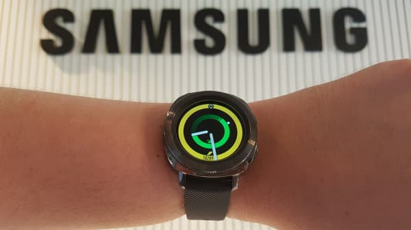 Samsung launched the Gear Sport smartwatch at the IFA consumer electronics show in Berlin on August 30, 2017.