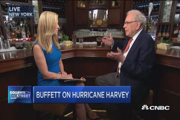 Buffett: We have about 500,000 cars insured in flood area
