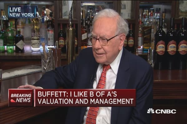 Buffett: I like Bank of America's valuation and management