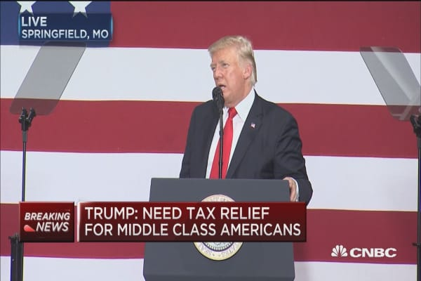 Trump: Calling on all of Congress to support tax reform