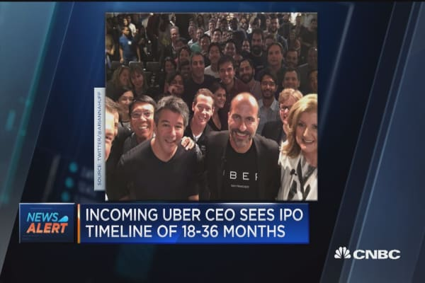 Incoming Uber CEO believes company should go public