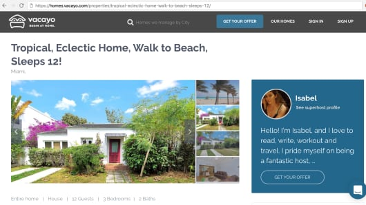 Drew Grewal says his Miami Beach property was listed on Vacayo.com without his permission.