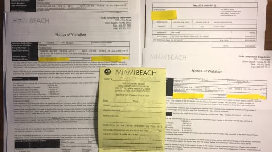 Drew Grewal amassed a stack of fines from Miami Beach when tenants rented out his place on Airbnb.