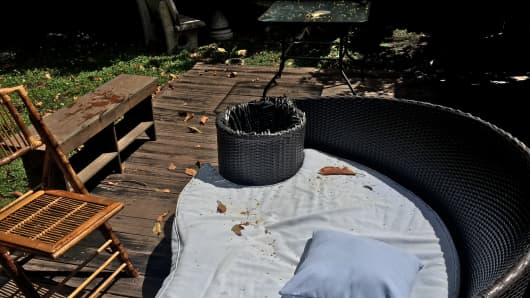Long-term tenants rented out Drew Grewal's home to travelers on Airbnb, who left his back yard and patio furniture shredded.