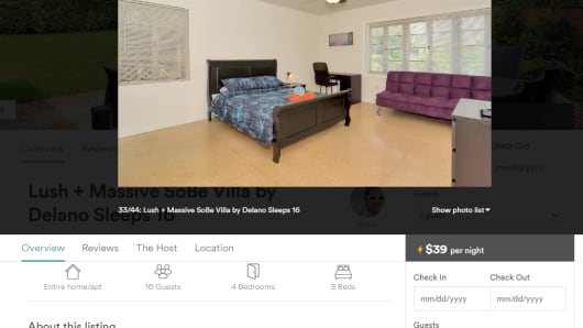 Rula Giosmas Miami Beach home was listed on Airbnb without her permission, she says.