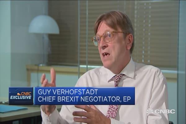 Citizens could be biggest victims of Brexit, says EU parliament's Verhofstadt