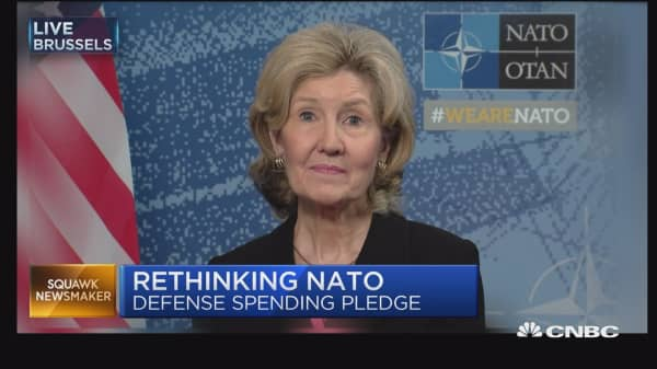 US government speaking with 'one voice' on NATO: Amb. Kay Bailey Hutchison