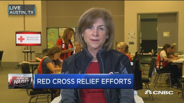 American Red Cross providing 'comfort and hope' to Harvey evacuees: Gail McGovern