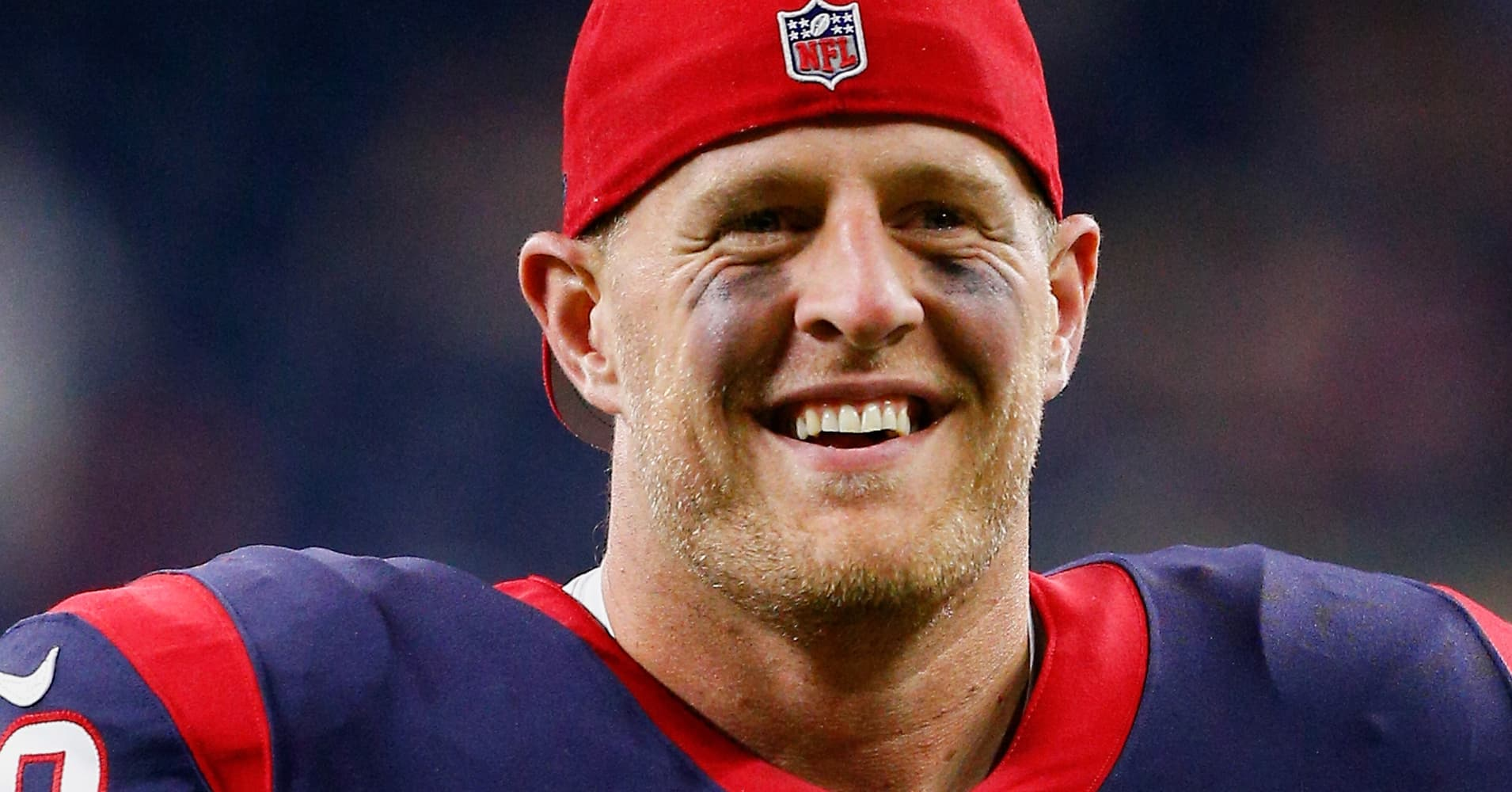 HOUSTON, TX - AUGUST 19: J.J. Watt #99 of the Houston Texans walks off the field after a 27-23 win over the New England Patriotsin a preseason game at NRG Stadium on August 19, 2017 in Houston, Texas. (Photo by Bob Levey/Getty Images)