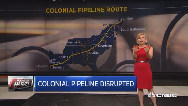 Colonial pipeline disturbed