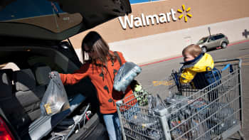 A shopper at a Walmart in East Peoria, Illinois.
