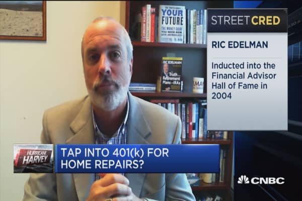 Taking your money from retirement is never a healthy thing to do: Ric Edelman on Harvey