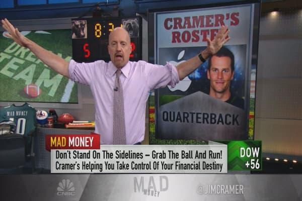 Cramer drafts a dream team of stocks in the spirit of fantasy football