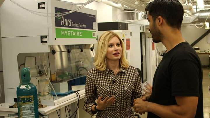 CNBC's Christina Farr gets a tour of IndieBio's lab