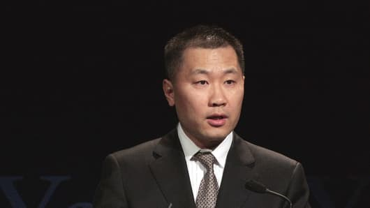 Yao Gang, former vice-chair of China's Securities Regulatory Commission, at the Shanghai Corporate Governance Conference in Shanghai, China, on April 16, 2010.