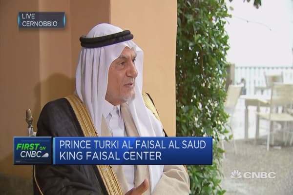 'We're still dealing with the world today as it was in 1945': Saudi statesman