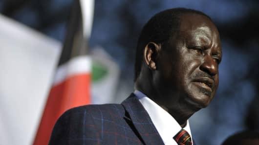 Raila Odinga, opposition leader for the National Super Alliance in Kenya