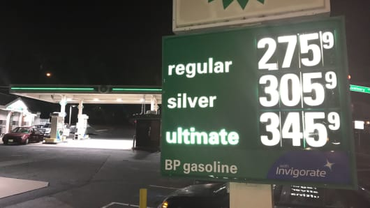 A gas station in Silver Spring, Maryland, who raised gas prices 30 cents last night.