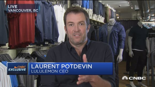 Lululemon CEO: More and more people want to live an athletic lifestyle