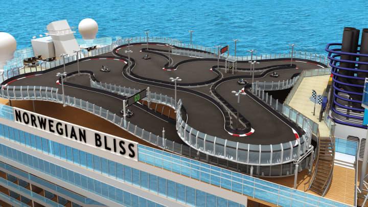 Norwegian Bliss Race Track.