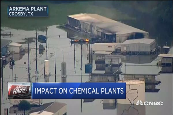 How safe is the area around the Arkema chemical plant?