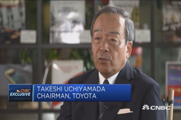 Toyota chairman: Skeptical of rapid shift to pure electric vehicles