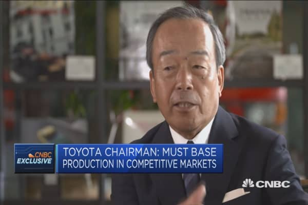 Parts of NAFTA framework must remain: Toyota CEO