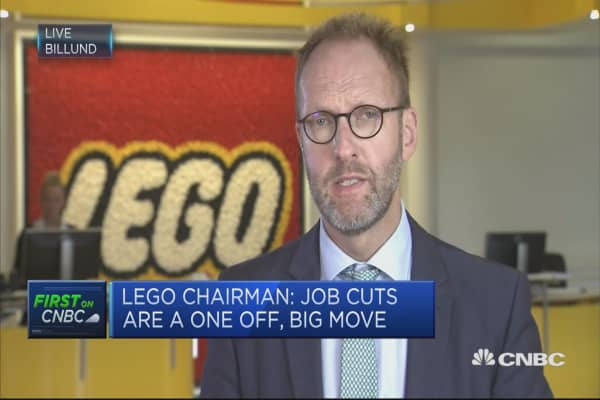 Lego to cut 8 percent of its staff as sales drop