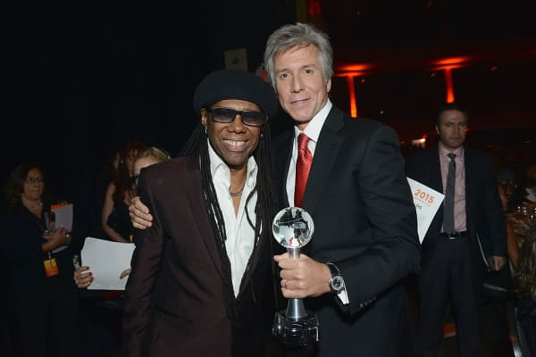 Nile Rodgers with SAP CEO Bill McDermott at a gala in New York City in 2015