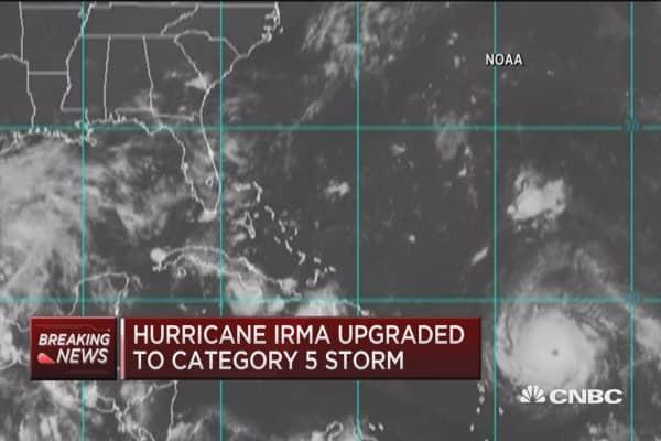 Hurricane Irma upgraded to Cat 5 storm