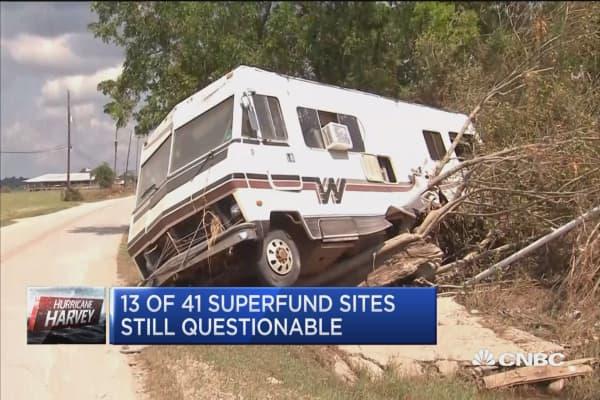 Harvey clean-up near Superfund sites