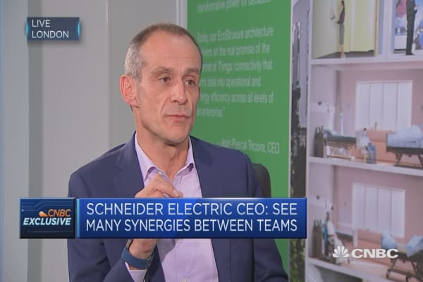 Schneider Electric CEO: See many synergies between teams