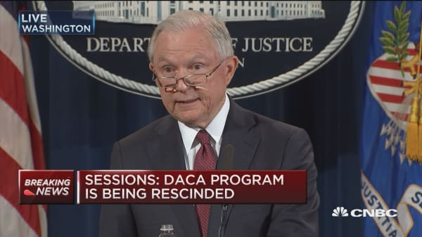 Sessions: DACA encouraged immigration laws